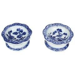 Pair of Chinese Export Porcelain Salt-Cellars, Qianlong Period '1736-1795'