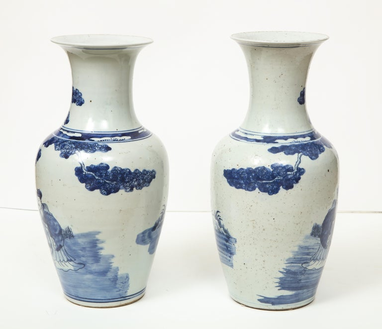 Pair of Chinese Export Vases For Sale 7