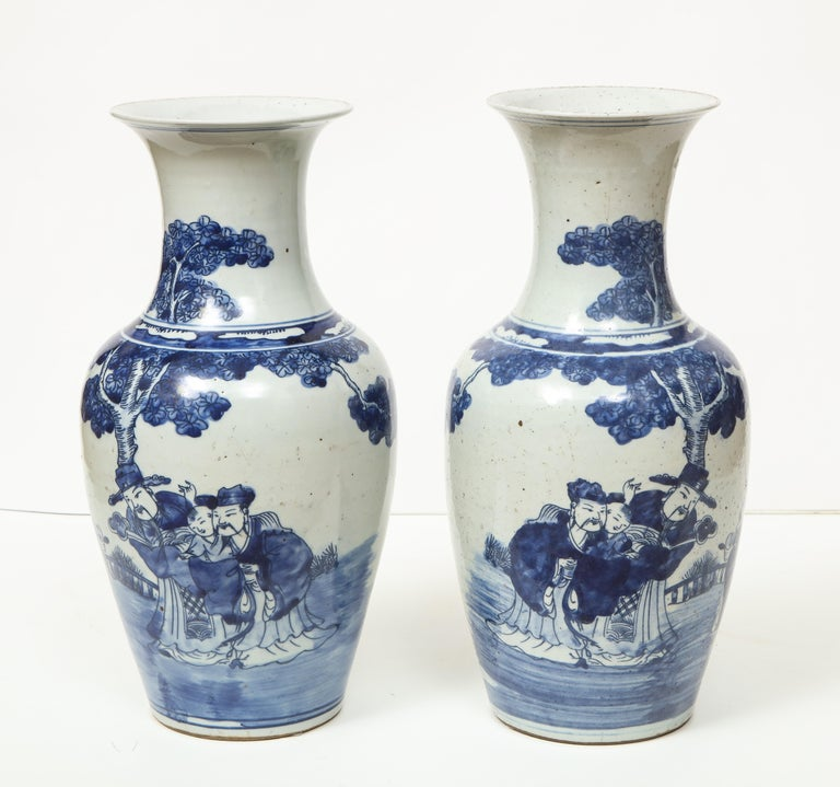 Pair of Chinese Export Vases For Sale 8