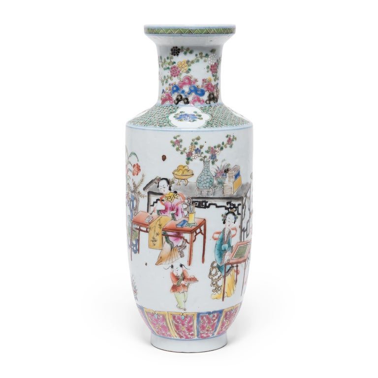 """During the 18th century, Europeans provided an eager market for Chinese export porcelain, especially the colorful and fanciful ware known as """"famille rose."""" Named for a palette of opaque overglaze enamels that favored roses and pinks, famille rose"""