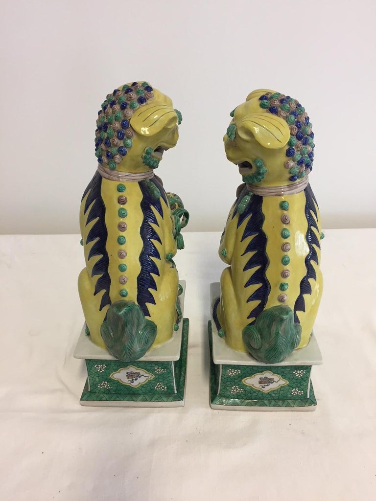 Hand-Crafted Pair of Chinese Foo Dogs For Sale