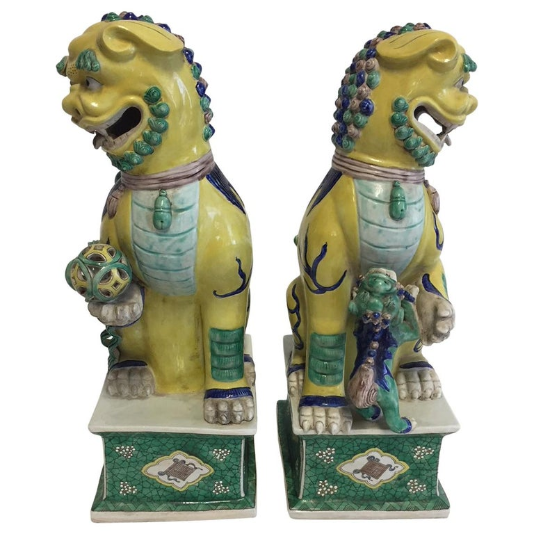 Pair of Chinese Foo Dogs For Sale
