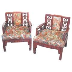 Pair of Chinese Hong-Mu Armchairs