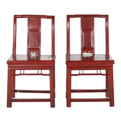 Pair of Chinese Lacquered Chairs