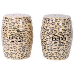Pair of Chinese Leopard Garden Seats