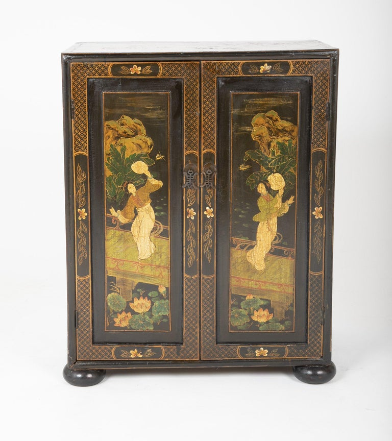 Pair of Chinese Low Cabinets For Sale 1