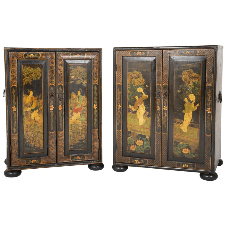 Pair of Chinese Low Cabinets For Sale