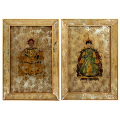 Pair of Chinese Painted Ancestor Portraits