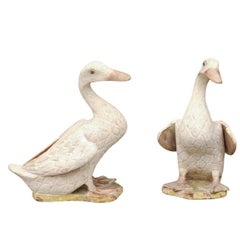 Pair Of Carved And Painted Wood Duck Decoys At 1stdibs
