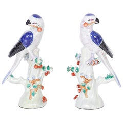 Pair of Chinese Porcelain Birds