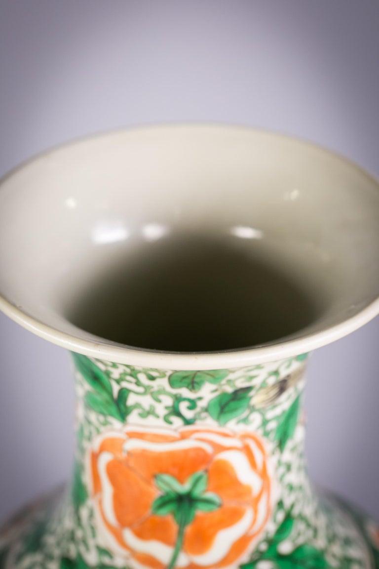 Pair of Chinese Porcelain Famille Verte Dragon Vases, circa 1840 For Sale 4