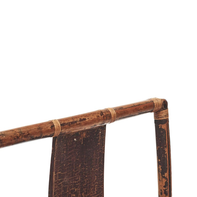 Pair of Chinese Qing Dynasty Bamboo Chairs For Sale 6
