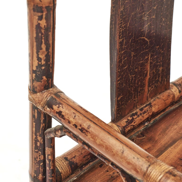 Pair of Chinese Qing Dynasty Bamboo Chairs For Sale 8