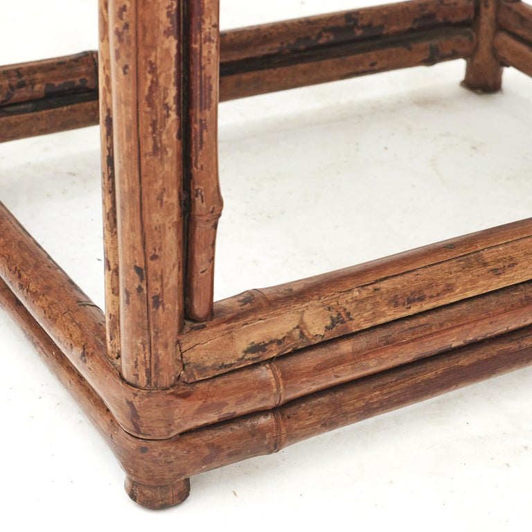 Pair of Chinese Qing Dynasty Bamboo Chairs For Sale 9