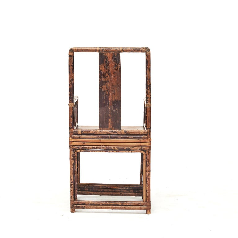 Pair of Chinese Qing Dynasty Bamboo Chairs In Good Condition For Sale In Nordhavn, DK