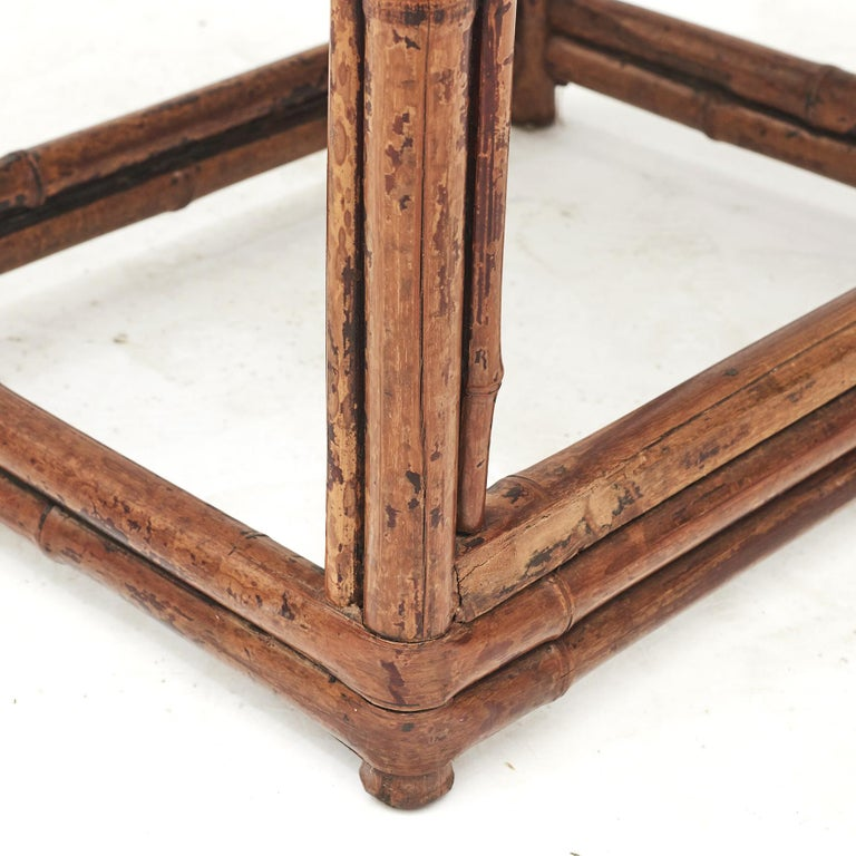 Pair of Chinese Qing Dynasty Bamboo Chairs For Sale 4