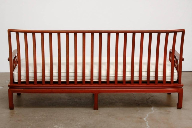 Hand-Carved Pair of Chinese Rosewood Carved Sofas or Benches For Sale