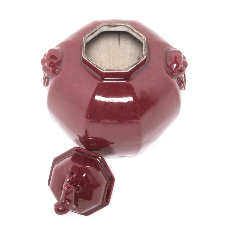 Pair of Chinese Shizi Hong Ginger Jars For Sale 1