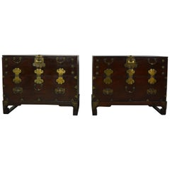 Pair of Chinese Side Cabinets or Nightstands
