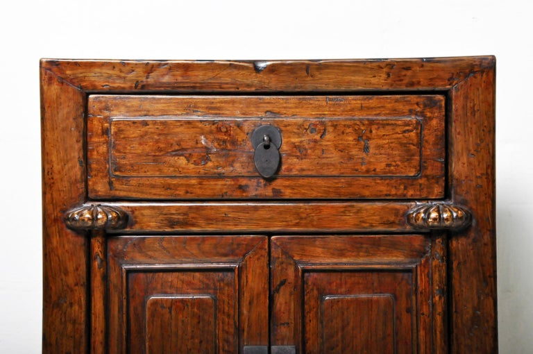 Pair of Chinese Side Cabinets with Two Drawers and a Pair of Doors For Sale 9