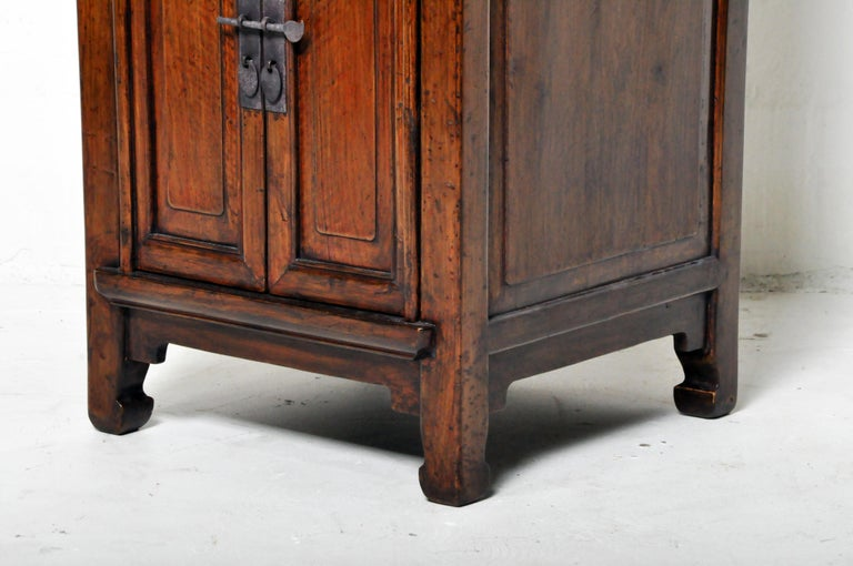 Pair of Chinese Side Cabinets with Two Drawers and a Pair of Doors For Sale 14