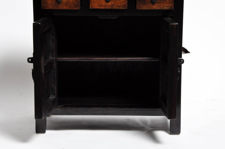 Pair of Chinese Side Tables with Three Drawers and a Shelf For Sale 3