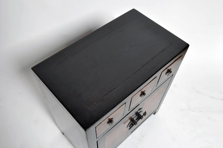 Pair of Chinese Side Tables with Three Drawers and a Shelf For Sale 4