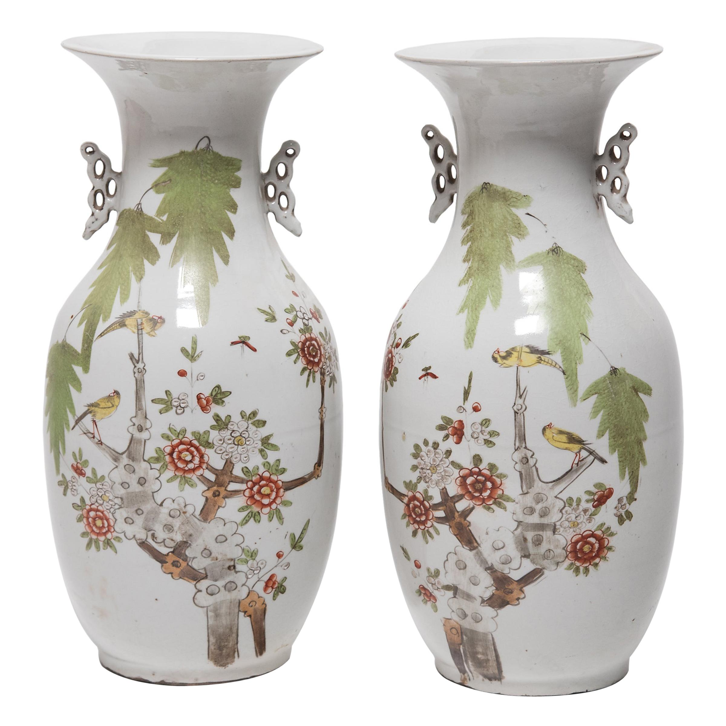 Pair of Chinese Springtime Vases, circa 1900