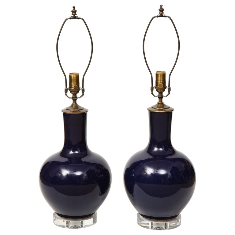 Pair of Chinese Vase Lamps For Sale