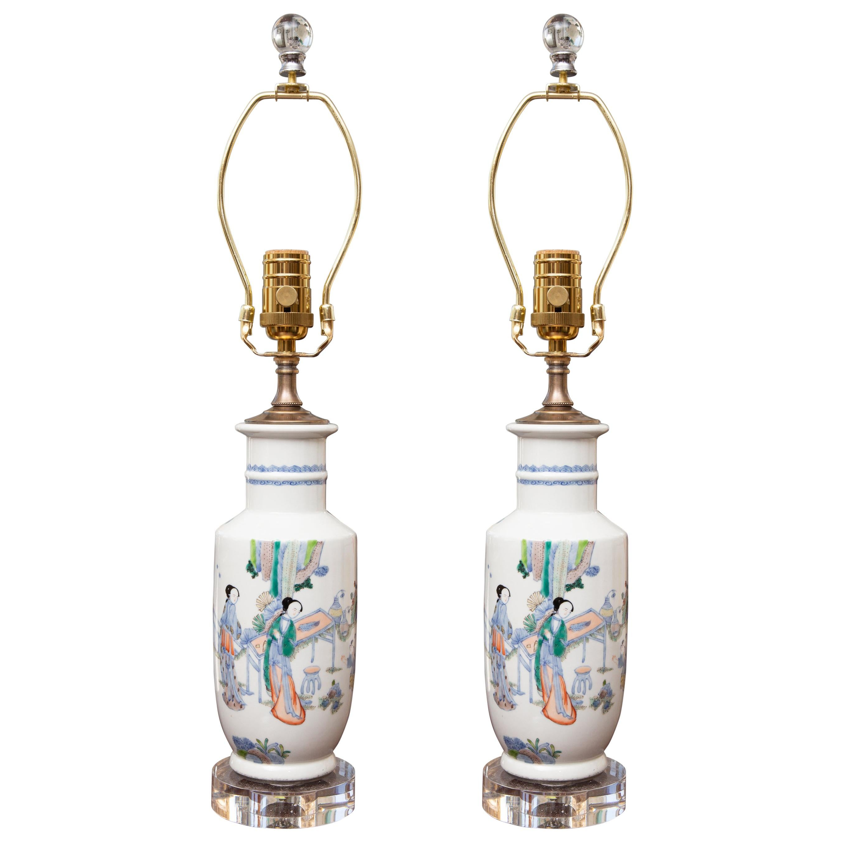 Pair of Chinese Vases as Table Lamps