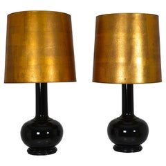 Pair of Chinese Vases Mounted as Table Lamp, France, circa 1970