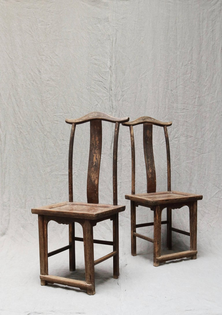 Pair of Chinese Wooden Stool from the Shanxi Province In Excellent Condition For Sale In Copenhagen, DK