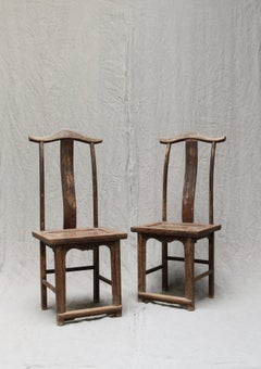 Pair of Chinese Wooden Stoold from the Shanxi Province