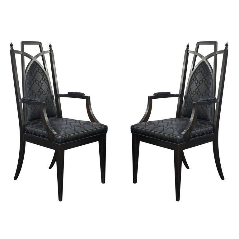North American Pair of Chinoiserie Armchairs For Sale