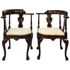 Pair of Chinoiserie Corner Chairs