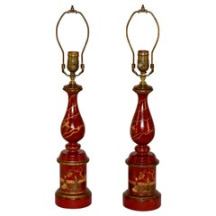 Pair of Chinoiserie Lamps, circa 1960