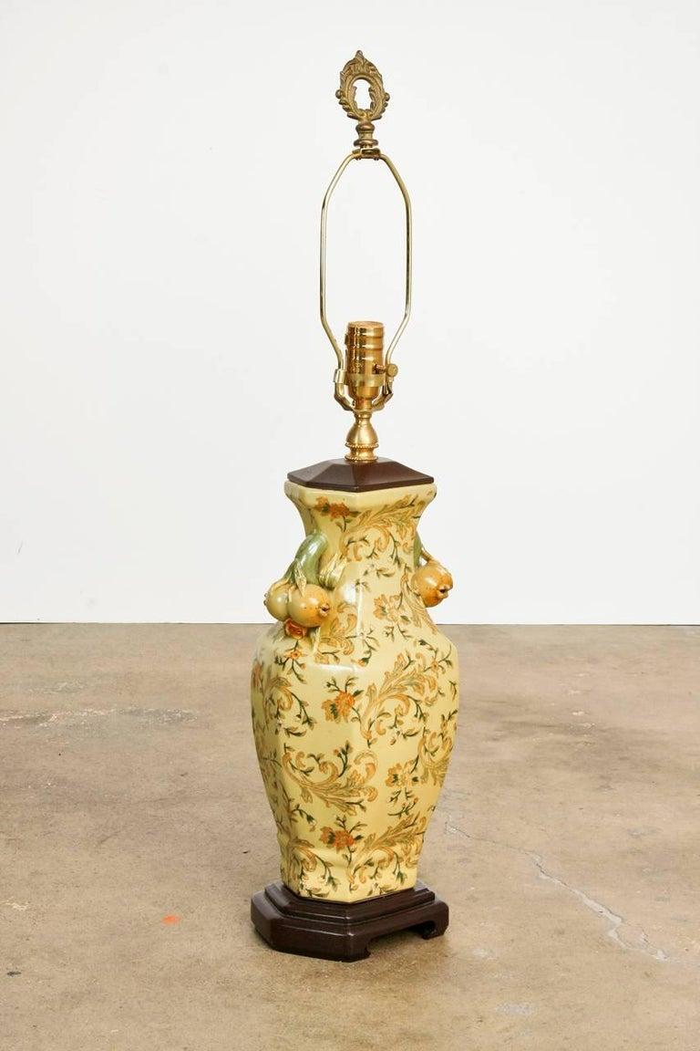 Pair Of Chinoiserie Porcelain Vase Table Lamps By Bradburn