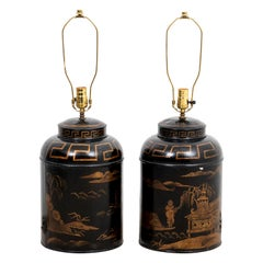 Pair of Chinoiserie Style Table Lamps