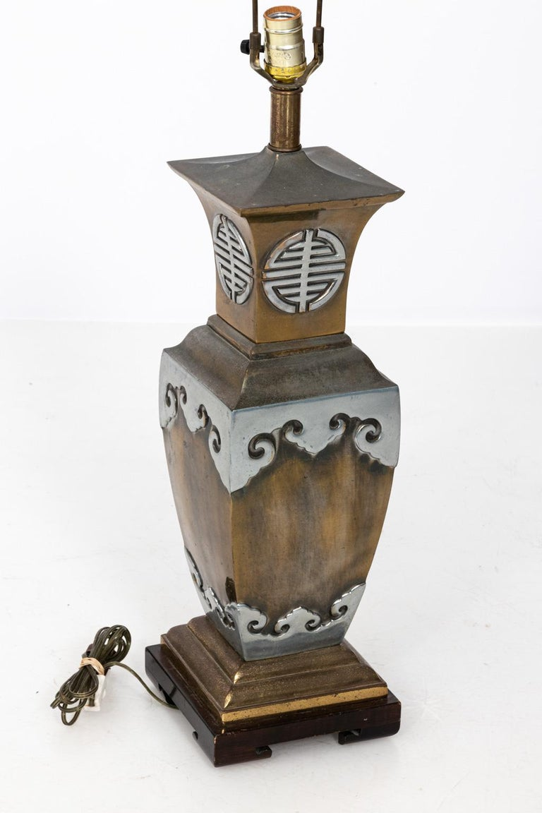 Pair of Chinoiserie Style Table Lamps in the Manner of James Mont For Sale 5