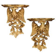 Pair of Chinoiserie Wall Brackets or Sconces