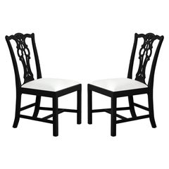 Pair of Chippendale Accent Side Chairs