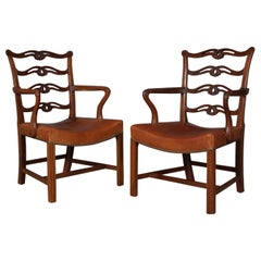 Pair of Chippendale Armchairs