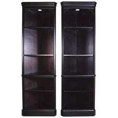 Pair of Chippendale Style Five-Shelf Corner Cupboards