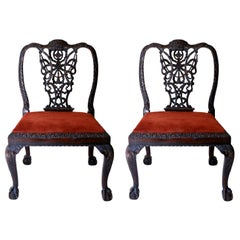 Pair of Chippendale Style Ribbonback Chairs