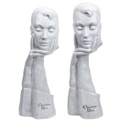 Pair of Christian Dior Midcentury Mannequin Display Busts