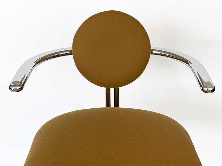 Pair of Chrome Armchairs by Gastone Rinaldi for Thema Italy For Sale 8