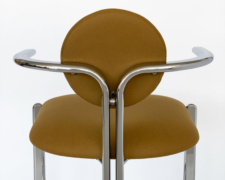 Pair of Chrome Armchairs by Gastone Rinaldi for Thema Italy For Sale 10