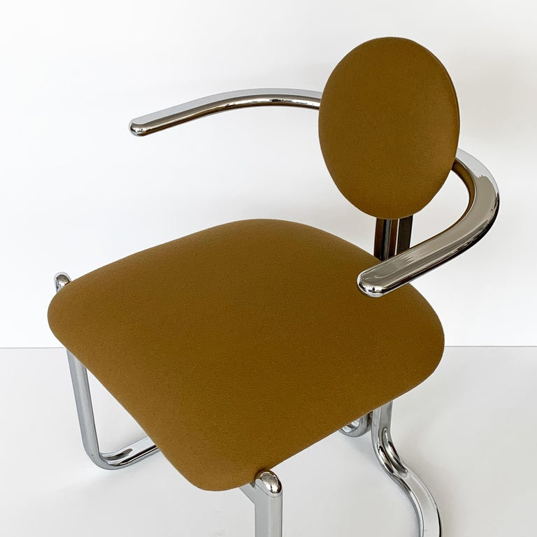 Pair of Chrome Armchairs by Gastone Rinaldi for Thema Italy For Sale 11