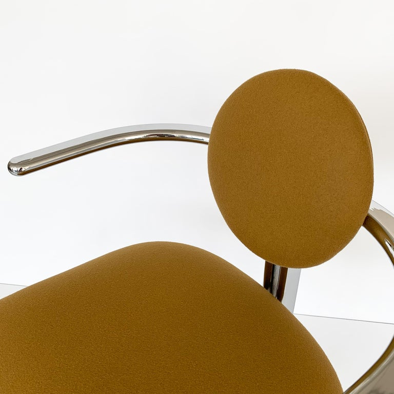 Pair of Chrome Armchairs by Gastone Rinaldi for Thema Italy For Sale 12