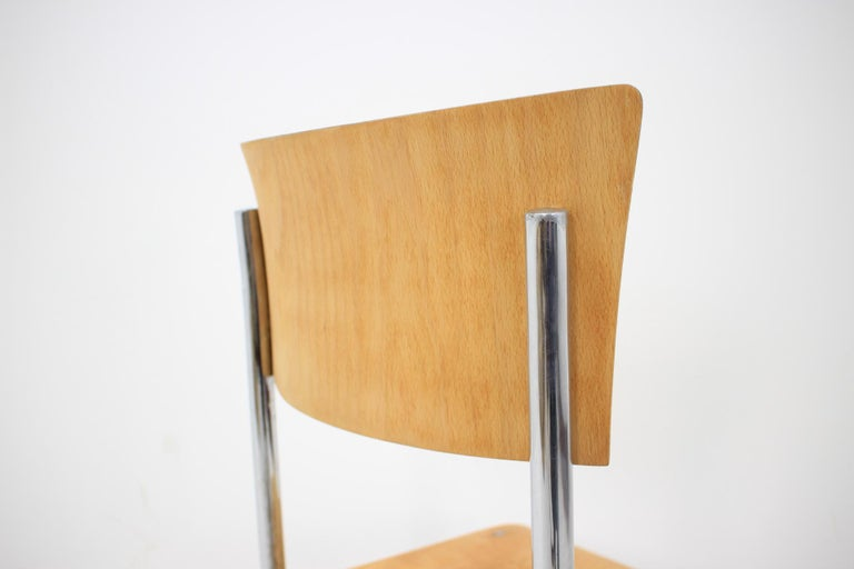 Pair of Chrome Bauhaus Robert Slezák Chairs, 1930s In Good Condition For Sale In Barcelona, ES